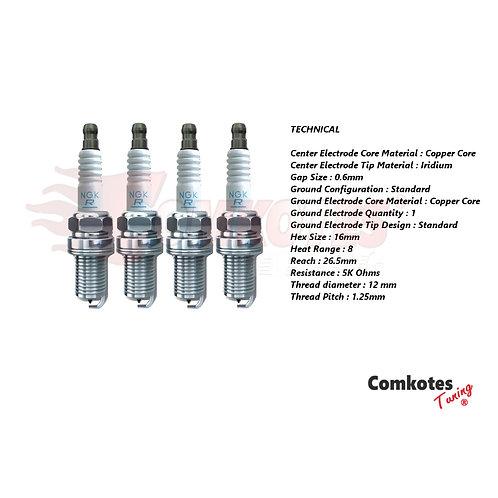 NGK Spark Plugs (COLD Heat Range 8) - 208 GTi 308 GTi RCZ DS3
