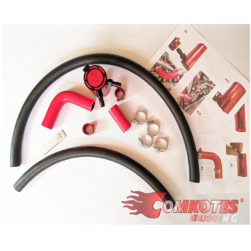 Peugeot & Citroen gti oil catch can with hoses & brackets. for 208, 308 & DS3.