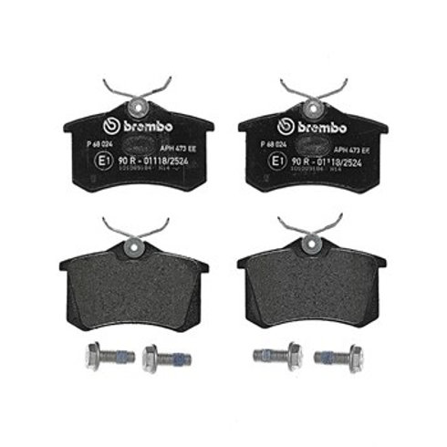Brake PAds for cars. Brand=Brembo. Fits rear, part number P68024.