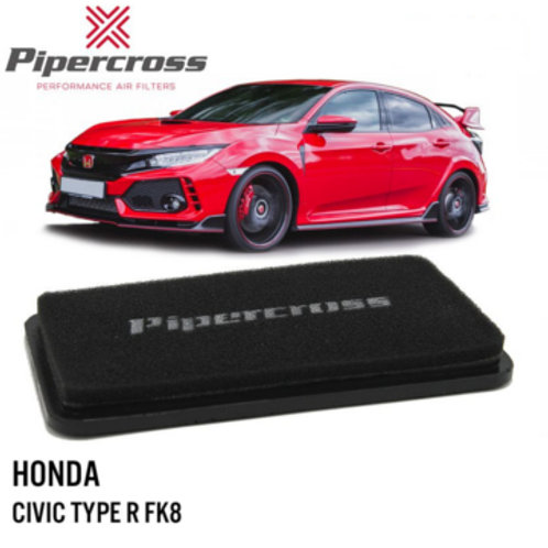 Air filter for cars. Pipercross Brand, Part Number PP1981. Fits Honda Civic Type R FK8