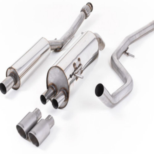 Milltek Resonated Cat Back Exhaust with Titanium Tips for 208 Gti.