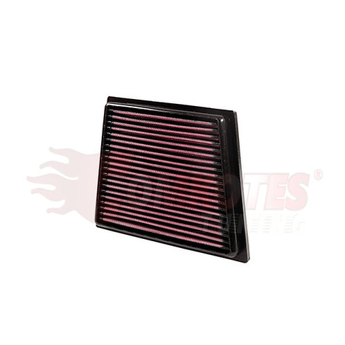 Car Air filter.Part Number K&N 33-2955. Fits Ford Fiesta, B Max. Ford tuning aftermarket parts.