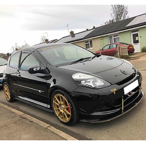 TRC Front splitter for the Renault Clio RS200. Fits automobiles 2009-2012.