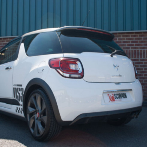 Cat back exhaust. Fits Citroen DS3 performance, 208 THP and DS3 racing 207ch,
