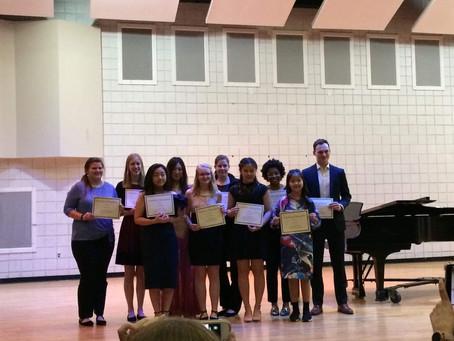 1st Prize South Carolina Flute Society Competition