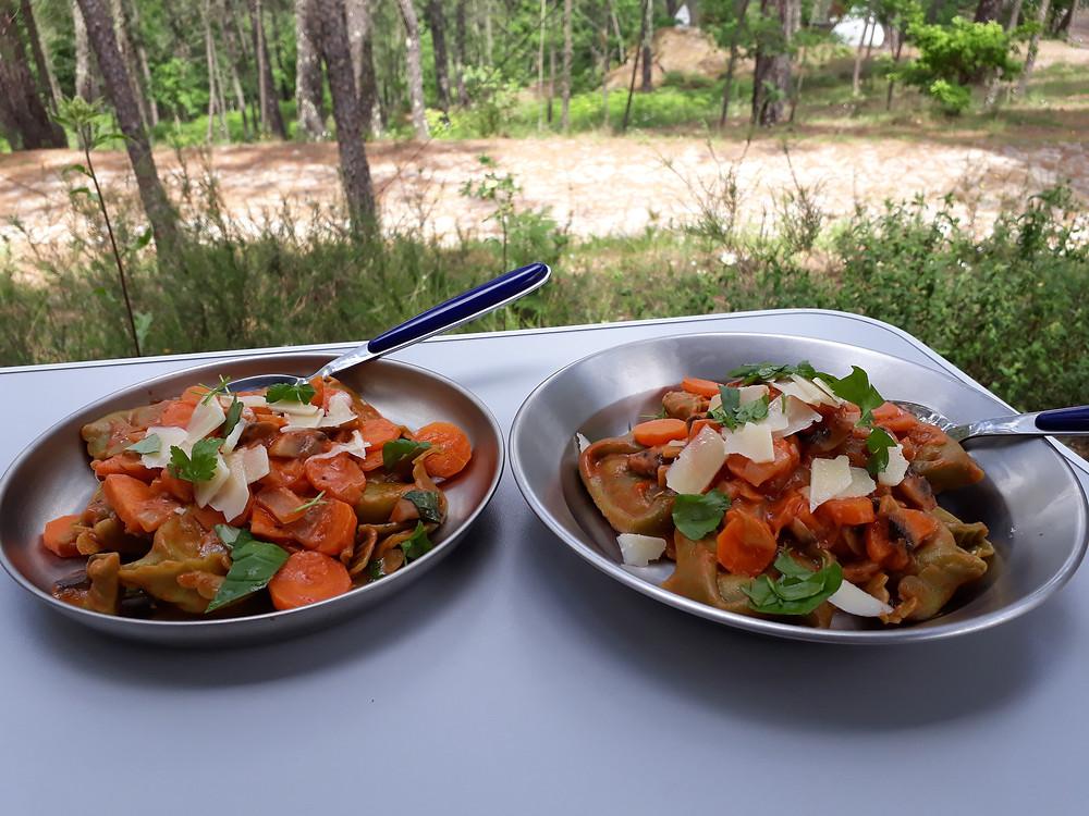 Essen im Camper