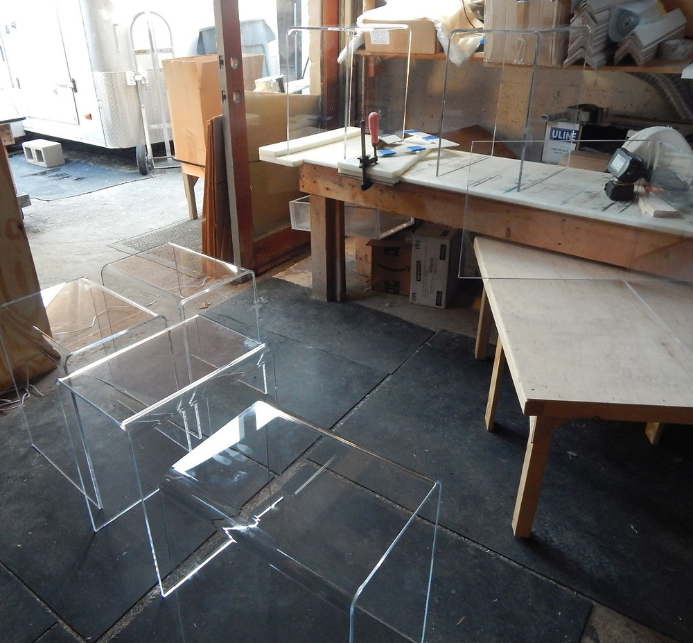acrylic tables in USA production
