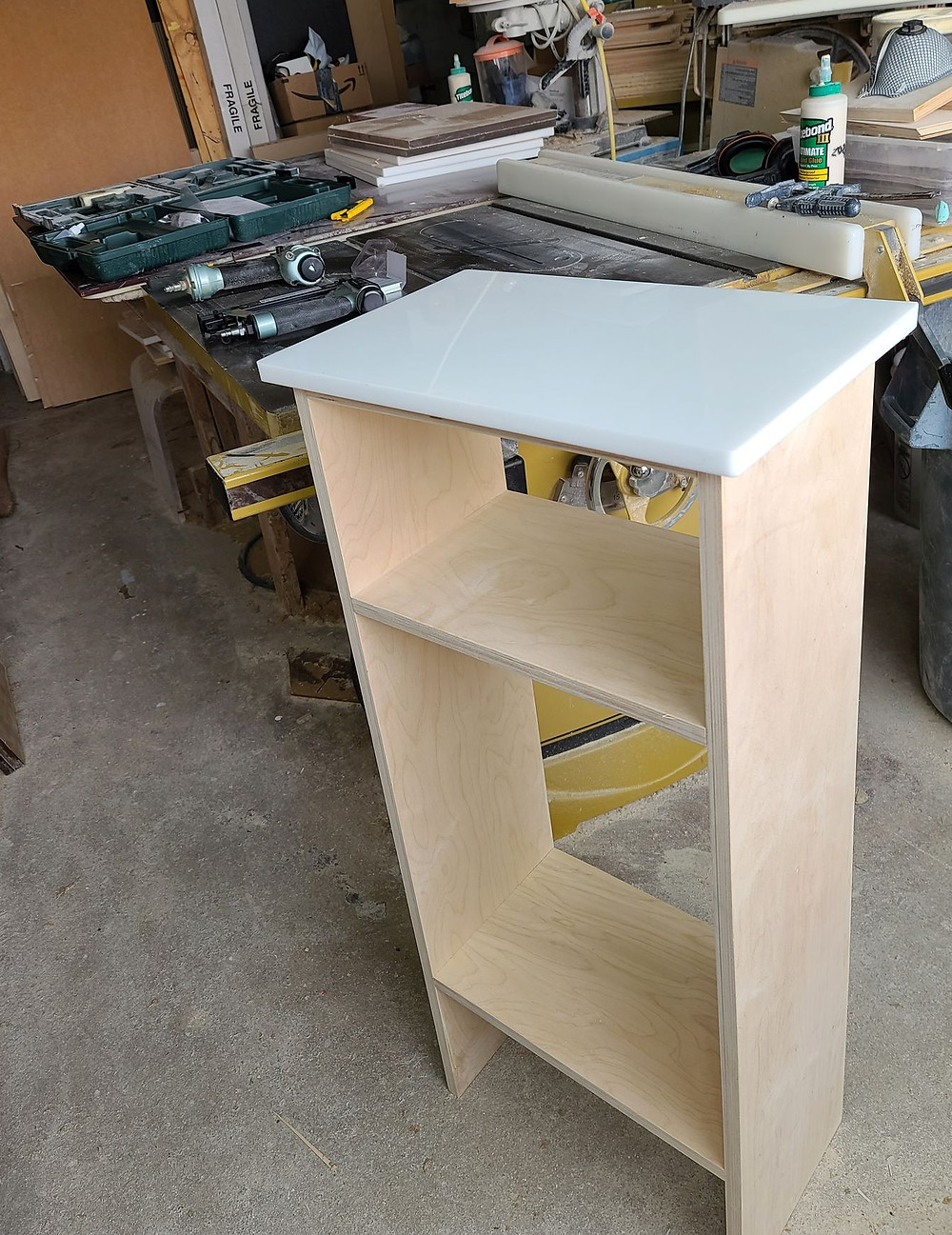 birch plywood and acrylic sheet table