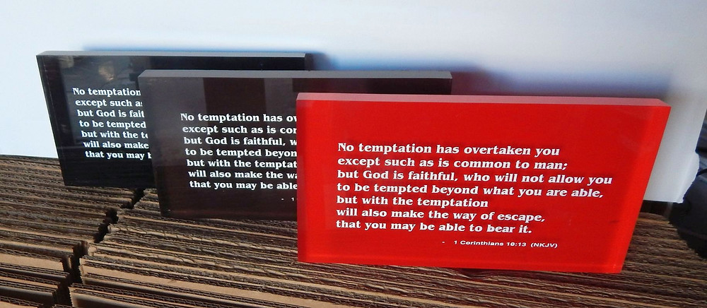 acrylic bible verse plaques