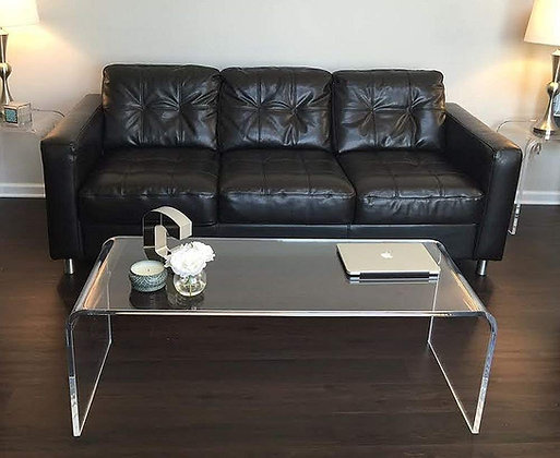 large acrylic coffee table