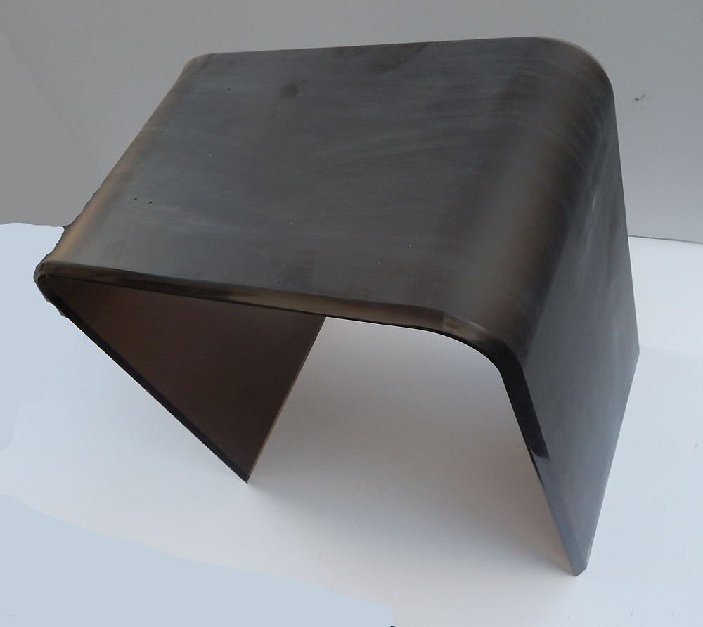 frosted transparent bronze end table