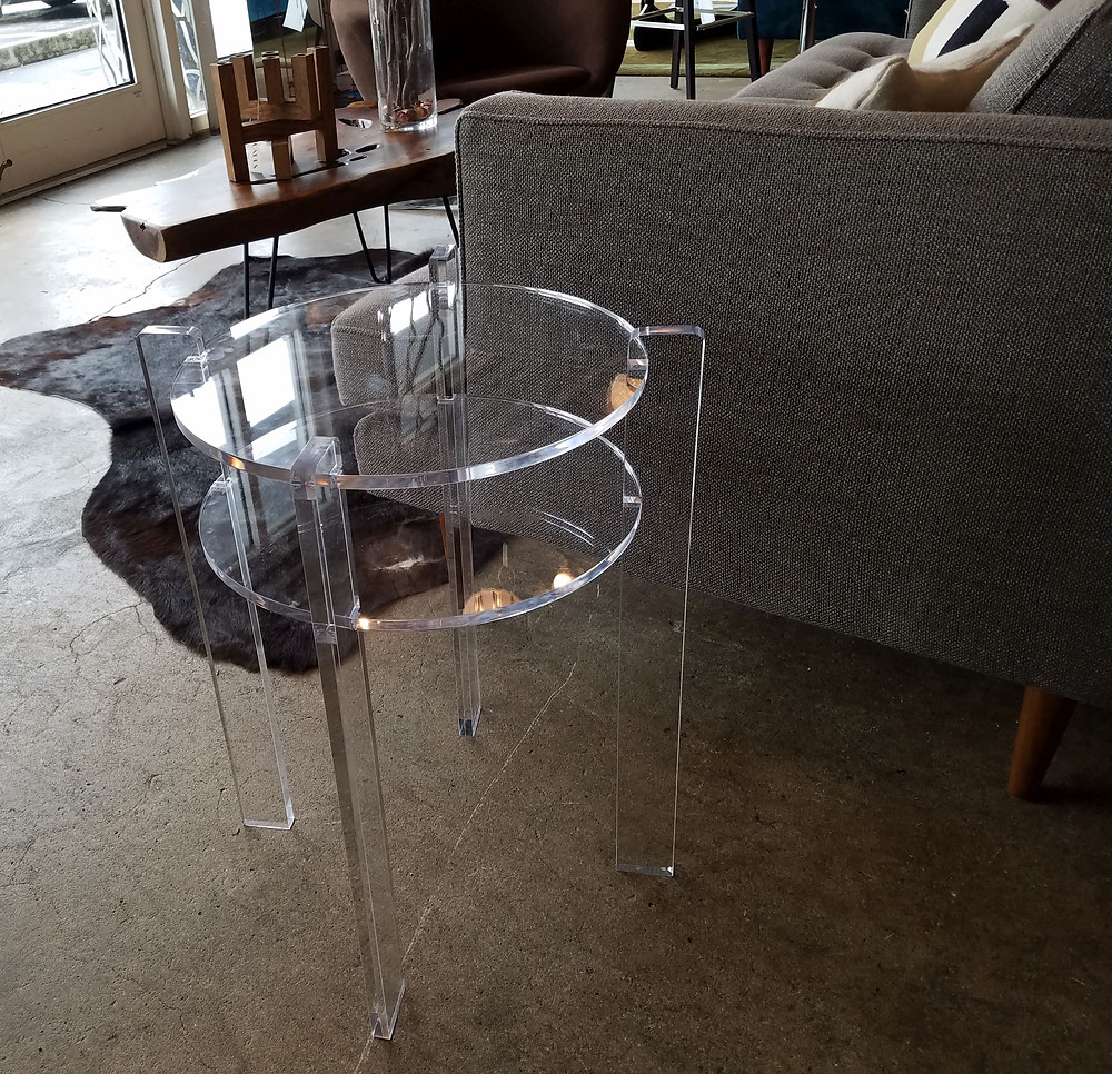original design acrylic end table