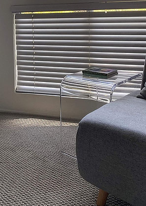"""18"""" x 12"""" x 18"""" high x 3/4"""" Thick Clear Acrylic Table or Shower Bench $158"""
