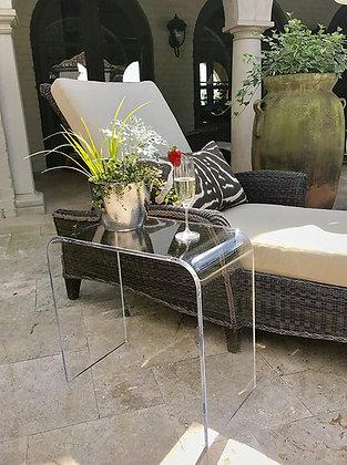 outdoor acrylic end table
