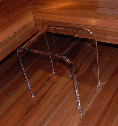 clear table in sauna