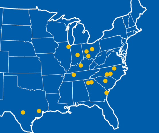 Map: Locations in The Pool Management Group