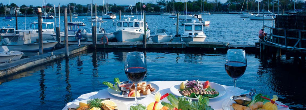 Mediterranean Cuisine Assortment with a View