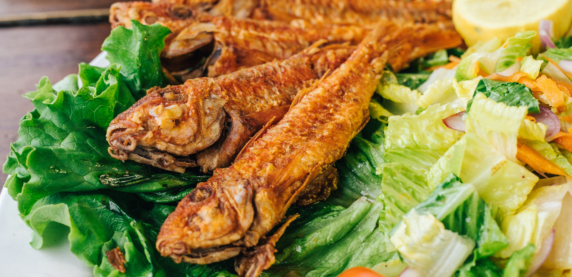 Lightly Pan-fried Red Mullet Fish