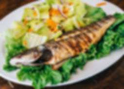Grilled Fish Bronzini with Mediteranean cuisine