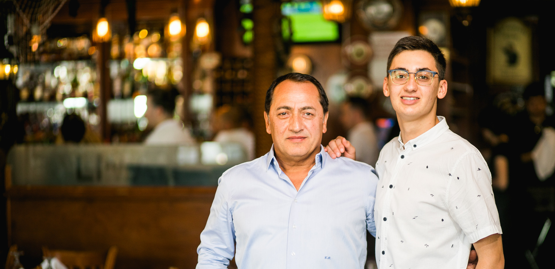 Liman Restaurant Owner with Son