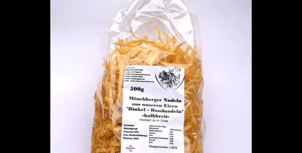 Dinkel-Bandnudeln halbbreit 500 g