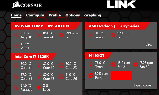 High idle temps on H110i GT
