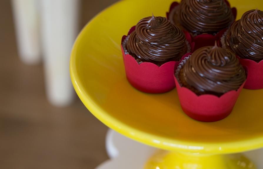 Cupcakes com ganache