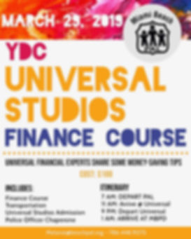 YDC- Universal Studios- Finance Course 2