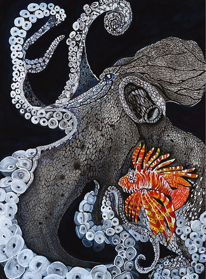 The Octopus and The Lion Fish