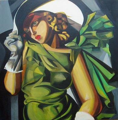 La dame en vert - Oil.jpg