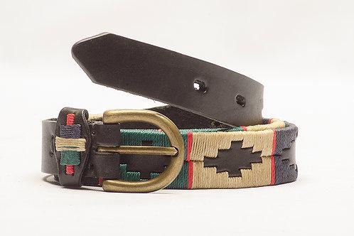 Cinturón NiñoPolo Bordado Completo Negro. CIN 31