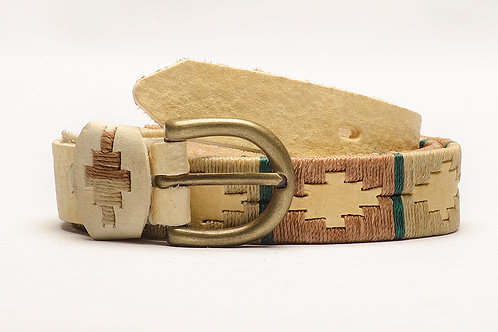 Child Belt Embroidered Polo Full raw leather. CIN 06