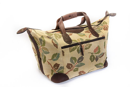 Leather and canvas bag. BOL04