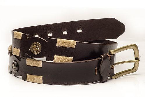 Cinturon con Aplique Caballito y Bordado .CIN 37