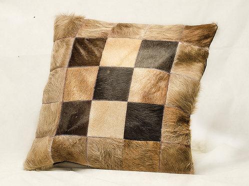 Cowhide leather cushion 'Cruz'. ALM 01C