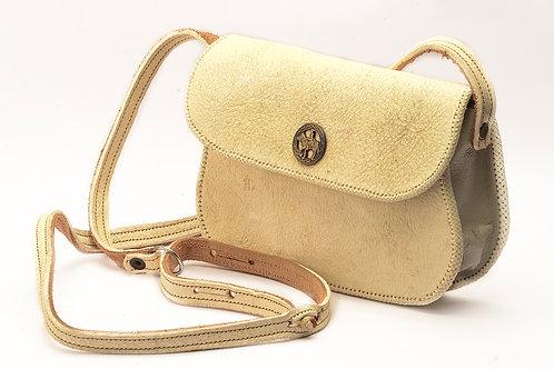 Woven leather handbag. MORR 06C