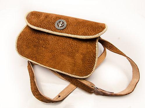Capybara' woven leather handbag. MORR 06A
