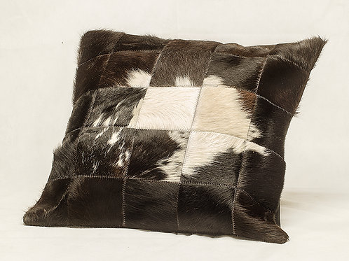 Cowhide leather cushion 'Splashed'. ALM 01D