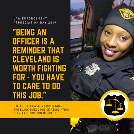 Patrol Officer Angelia Gaston February 2021 Member of the Month
