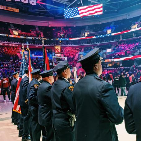 #BlackHistoryMonth   Cavs Color Guard Presentation