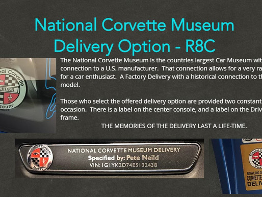 R8C - National Corvette Museum Delivery
