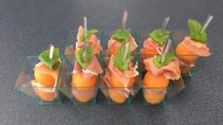 Melon-jambon de Parme