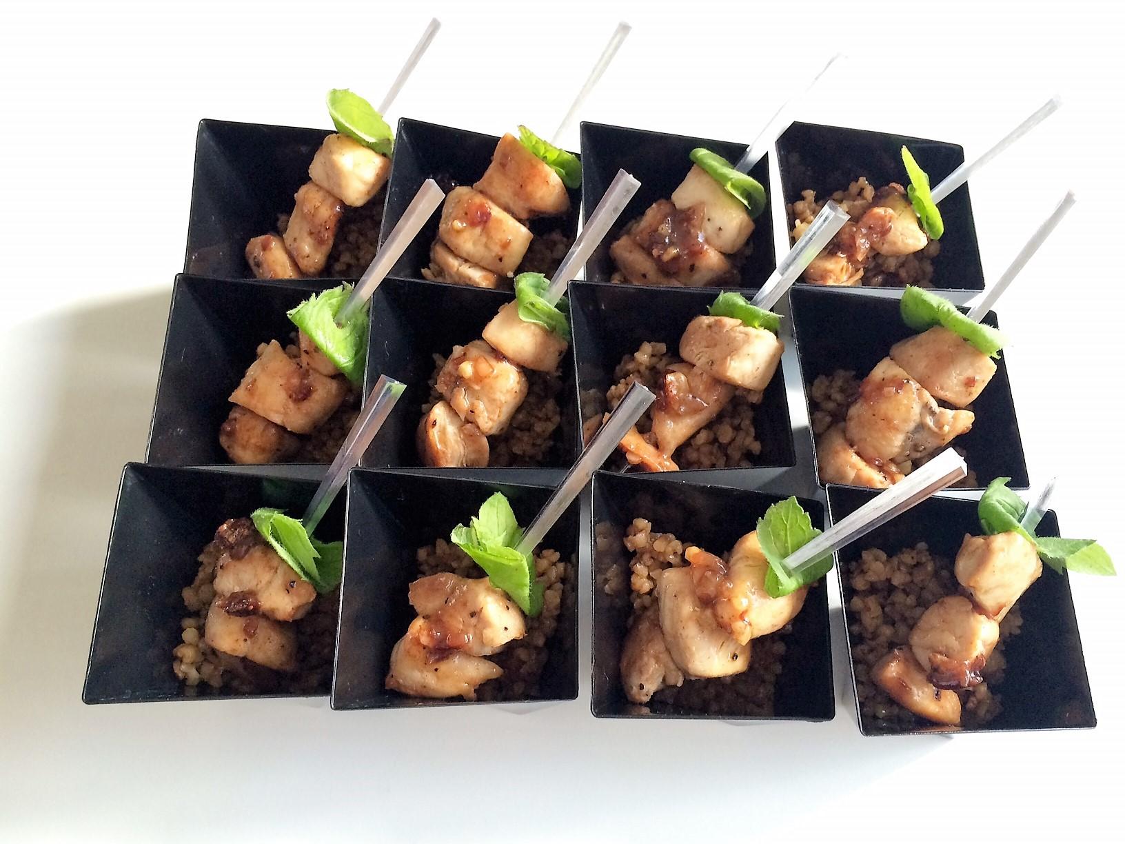 Boulgour balsamique,poulet caramel