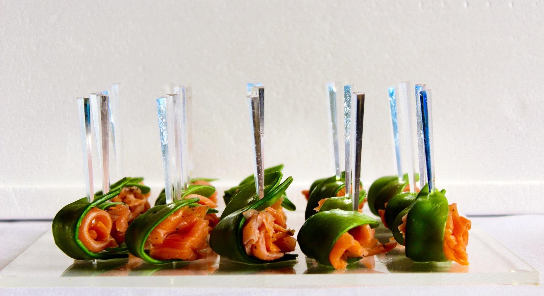 Saumon mariné et pois mange-tout