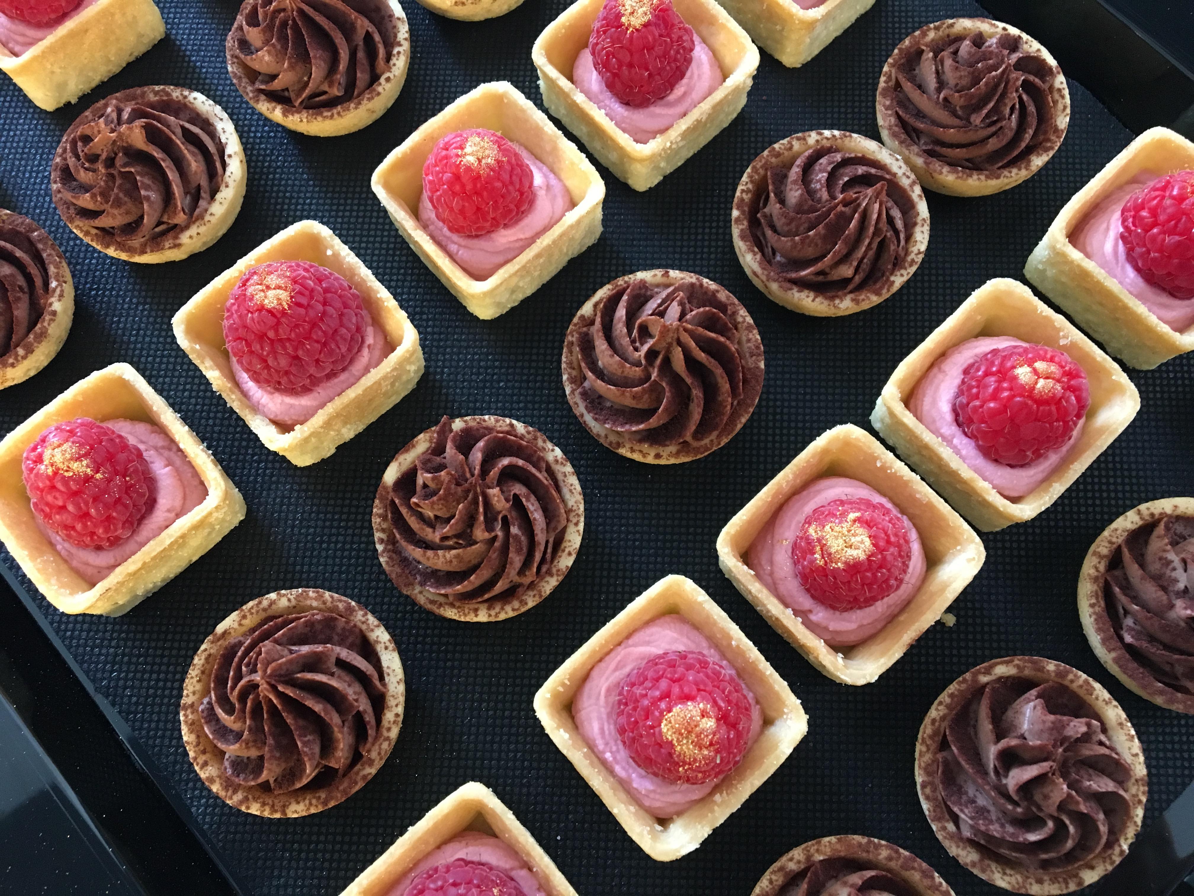 Douceurs chocolat-framboise