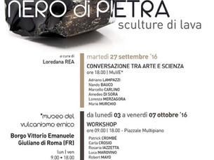 "Great experience in Giuliano Di Roma international stone sculpture symposium and ""L'eruzione&qu"