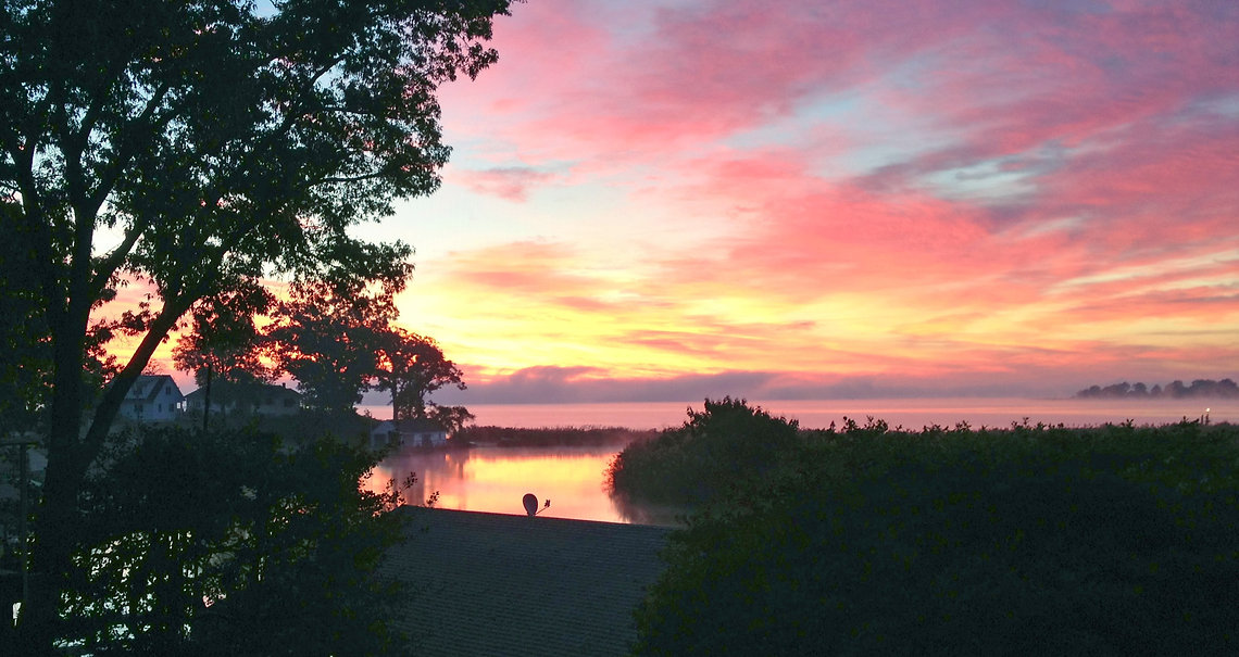 Rappahannock River at Tappahannock - sunrise over Hoskins Creek