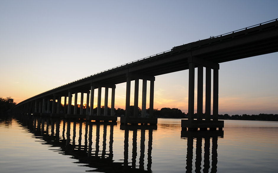 Downing Bridge over the Rappahannock River, Tappahannock, Virginia