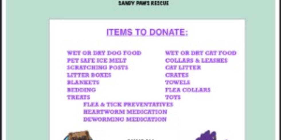 Pet Supply Donation Drive