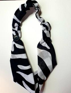 bee sew arty animal print headband